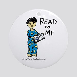 Read To Me boy 1 Ornament (Round)
