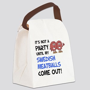 Party Until Swedish Meatballs Canvas Lunch Bag