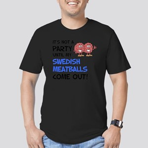 Party Until Swedish Me Men's Fitted T-Shirt (dark)