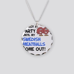 Party Until Swedish Meatball Necklace Circle Charm