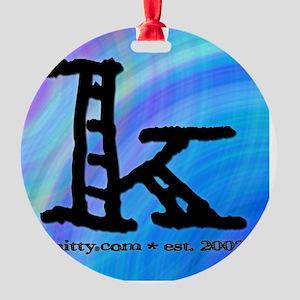 KonlyMADRAS Round Ornament