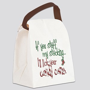 Stuff my stocking2 copy Canvas Lunch Bag
