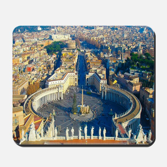 (sq) Rome-Piazza Mousepad