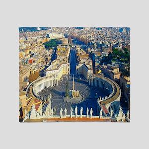 (sq) Rome-Piazza Throw Blanket