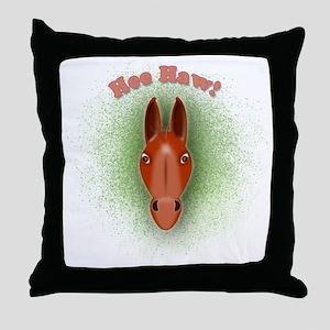 Head-10x10_apparel Throw Pillow