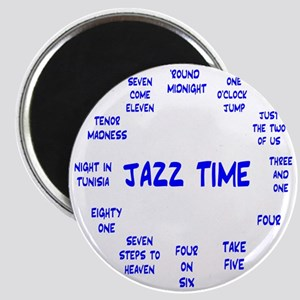 Real Jazz Clock Blue Magnet