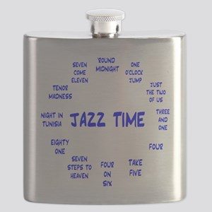 Real Jazz Clock Blue Flask