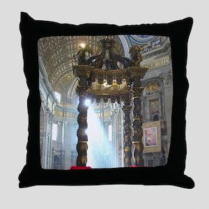 (half sheet) St Peters altar Throw Pillow