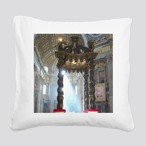 (half sheet) St Peters altar Square Canvas Pillow