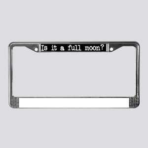fullmoon License Plate Frame