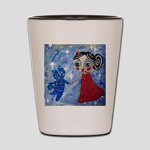 STAR POWER - LORALAI - Blue Cat Series Shot Glass