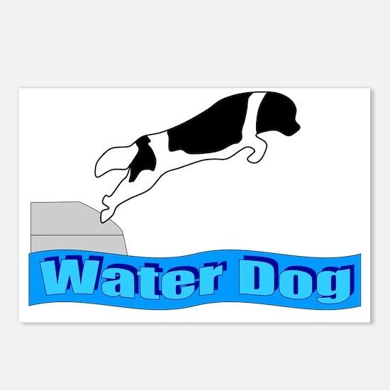 Water Dog - Landseer Postcards (Package of 8)