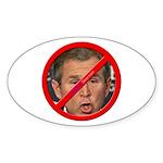 """No Bush"" Oval Sticker"