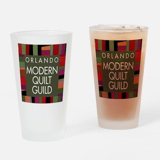 OMQGButtonLogo Drinking Glass