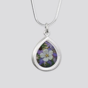 Columbines mp Silver Teardrop Necklace