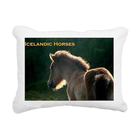icehorsesbig Rectangular Canvas Pillow