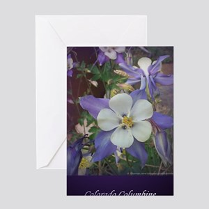 Columbines jr Greeting Card