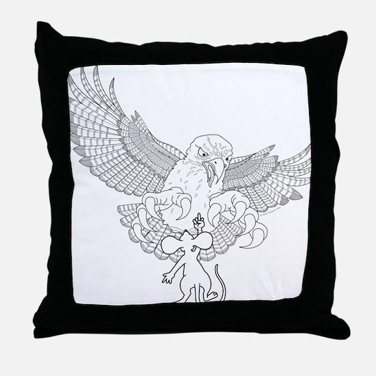 LADblackline Throw Pillow