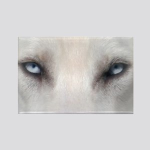 Blue_Eyes_Feathered_CP Rectangle Magnet