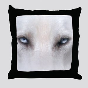 Blue_Eyes_Feathered_CP Throw Pillow