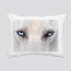 Blue_Eyes_Feathered_CP Rectangular Canvas Pillow