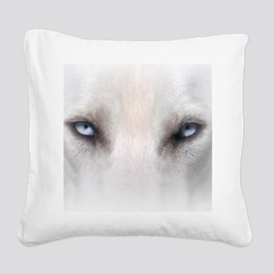 Blue_Eyes_Feathered_CP Square Canvas Pillow