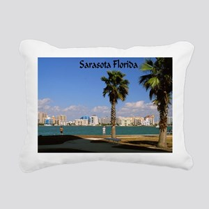 Palm Trees SarasotaFlori Rectangular Canvas Pillow