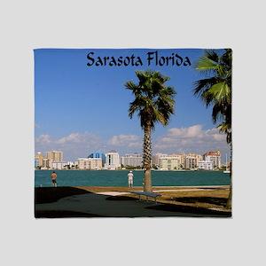 Palm Trees SarasotaFlorida42x28 Throw Blanket