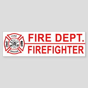 Fire Department Firefighter Bumper Sticker