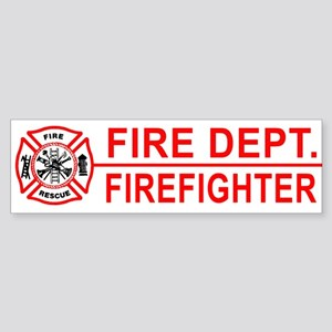 Proud Firefighter Bumper Sticker