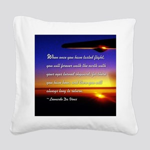DaVincisquare Square Canvas Pillow