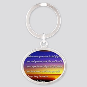 DaVincisquare Oval Keychain