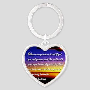 DaVincisquare Heart Keychain