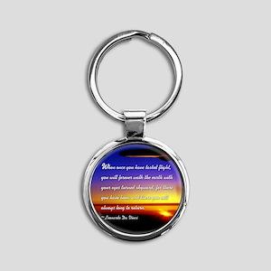DaVincisquare Round Keychain