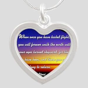 DaVincisquare Silver Heart Necklace