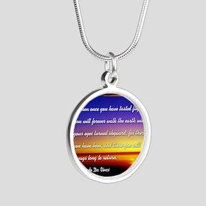 DaVincisquare Silver Round Necklace