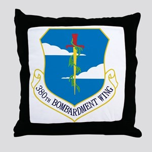 380th Bomb Wing - Blue Throw Pillow