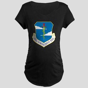 380th Bomb Wing - Blue Maternity Dark T-Shirt