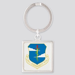 380th Bomb Wing Square Keychain