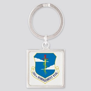380th Bomb Wing - Blue Square Keychain