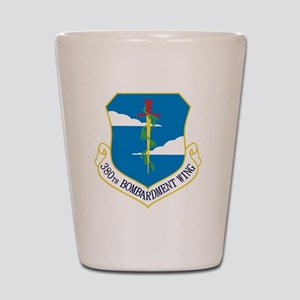 380th Bomb Wing - Blue Shot Glass