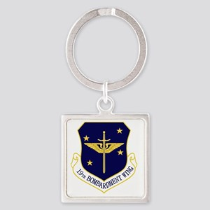 19th Bomb Wing Square Keychain