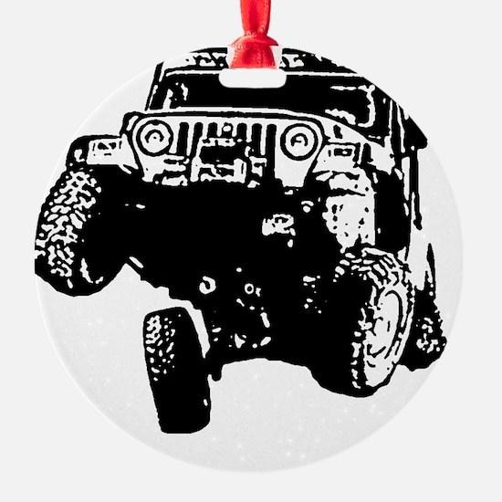 Jeep Wrangler Poser (TJ) Ornament