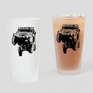 Jeep Wrangler Poser (TJ) Drinking Glass