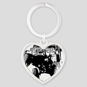 Jeep Wrangler Poser (TJ) Heart Keychain