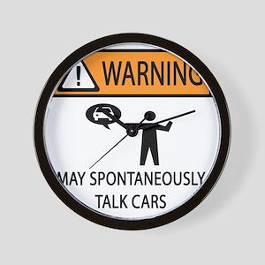 TALK CARS Wall Clock