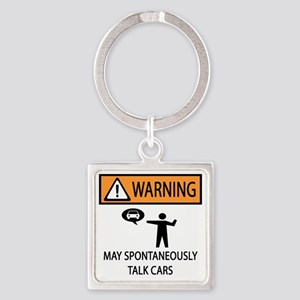 TALK CARS Square Keychain