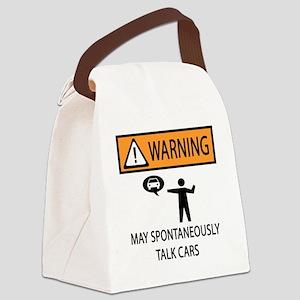 TALK CARS Canvas Lunch Bag