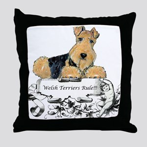 Welsh Terriers Rule! Throw Pillow