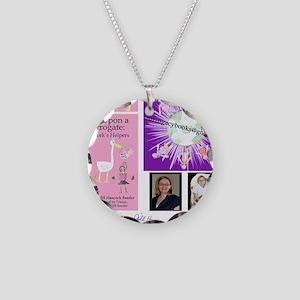 SurrogacyBooksStorkMuralSign Necklace Circle Charm